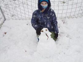 3. oddělení na sněhu